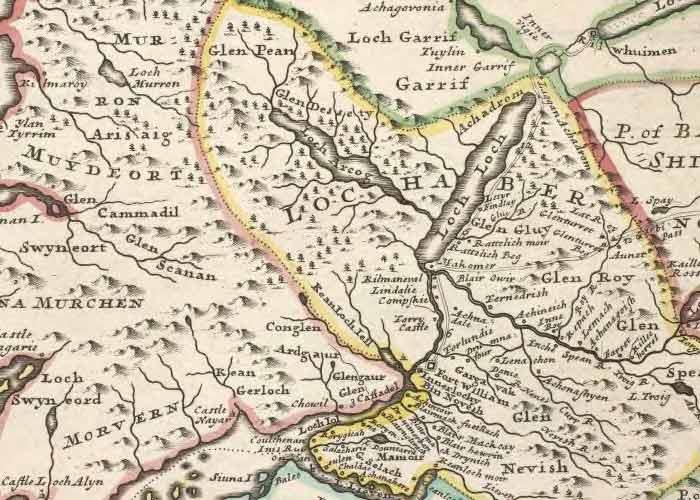 Lochaber Scotland Map.Clan Cameron Archives